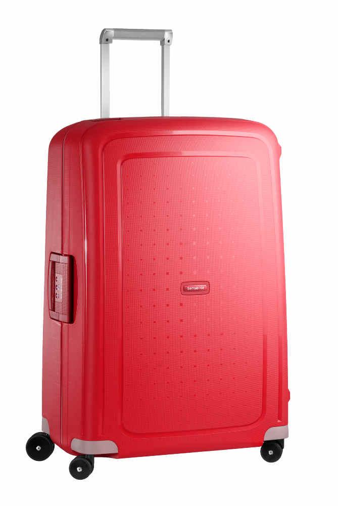 samsonite s 39 cure spinner 75 28 crimson red. Black Bedroom Furniture Sets. Home Design Ideas