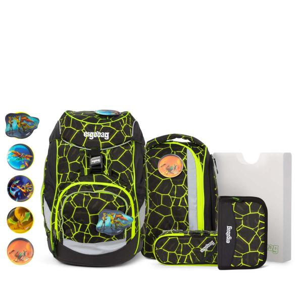 Ergobag Pack School Backpack Set Dragen RideBear LUMI-Edition NEW (ERG SET 001 9Y1) - bei kofferwelt.at